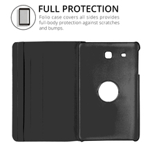 360 Rotating Smart Cover PU Leather Case for Samsung Galaxy Tab E 9.6 T560 T561 SM-T560 Folding Folio Stand Tablet Case+Film+Pen