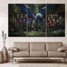 New 3 Pieces HD Printing Type Mass Effect Game Poster On Canvas One Set Modular Paintings Wall Art Home Decorations Bedroom