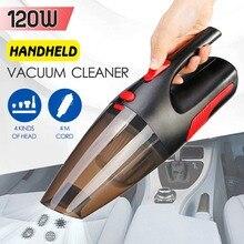Новейший 120 Вт портативный автомобильный пылесос ручной пылесос влажный/сухой двойной автомобильный беспроводной многофункциональный ручной пылесос