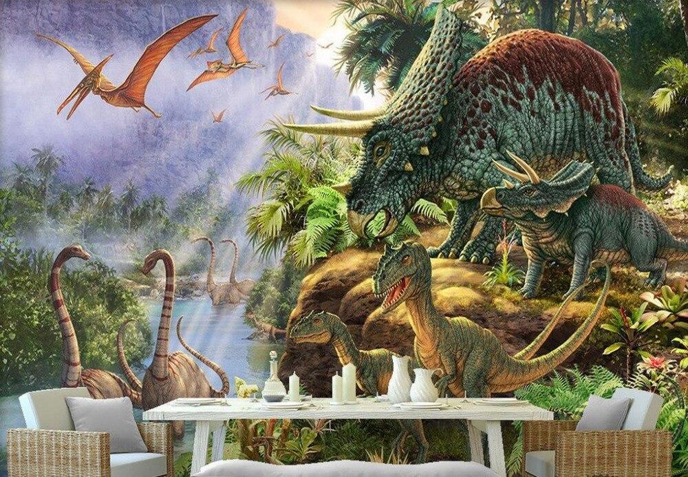 Blue Animal Print Wallpaper Modern Wallpaper Customized 3d Photo Wallpaper Murals