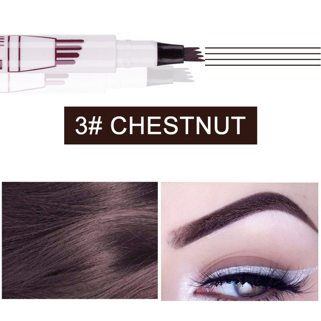 Microblading Tattoo Eyebrow Ink Pen Fork Tip Sketch Enhancer Waterproof Eye Brow Makeup Pencil Hot Mdf 4