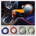 5 M/lote Car styling Decoración de Salida de Aire de rosca Insertar etiqueta Salpicadero interior Tira de La Decoración Accesorios Del Coche de Estilo