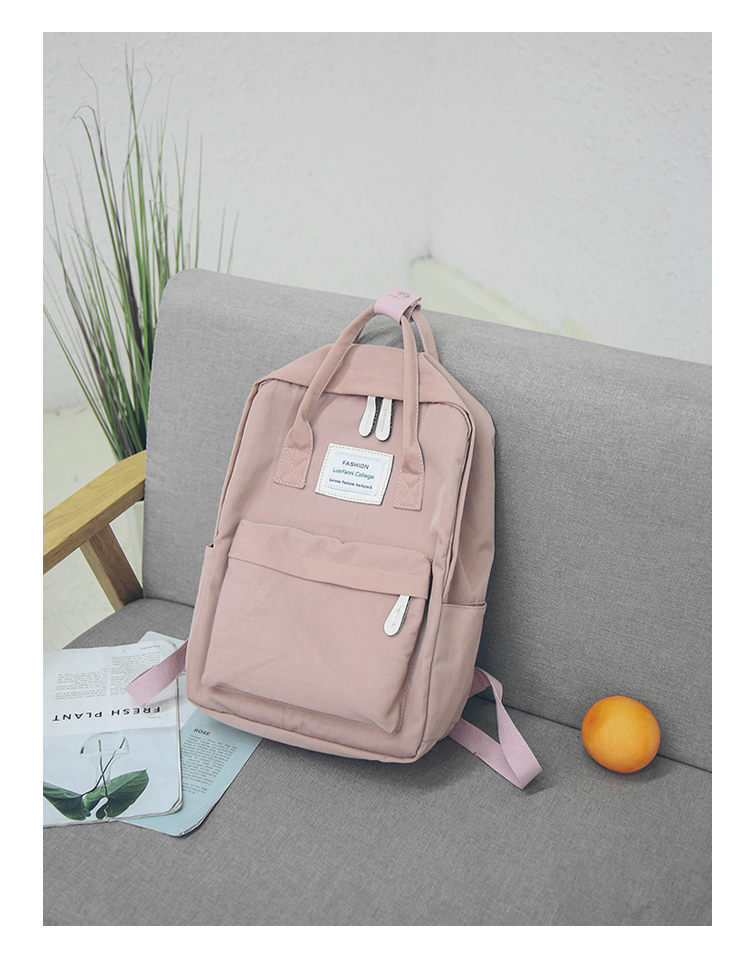 HTB1bTvksb5YBuNjSspoq6zeNFXa2 - Women Hot Canvas Backpacks Candy Color Waterproof  School Bags for Teenagers Girls Laptop Backpacks Patchwork Backpack New