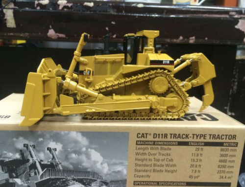 New Caterpillar Cat D11R Track-Type Tracktor 1/50 DieCast 85025 By DM ModelNew Caterpillar Cat D11R Track-Type Tracktor 1/50 DieCast 85025 By DM Model