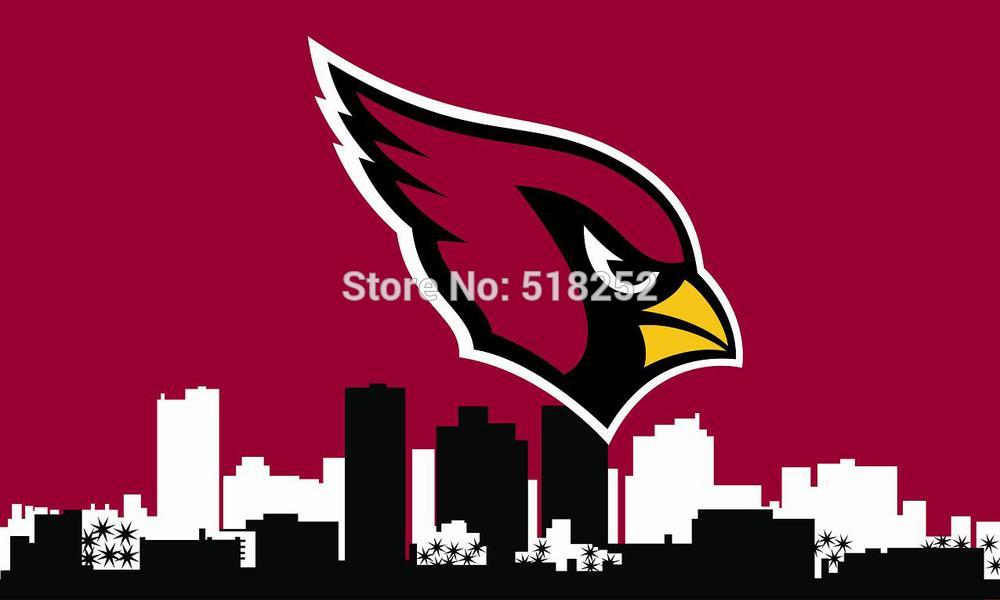 Arizona Cardinals custom Flag 3x5 FT 150X90CM Banner 100D Polyester flag Brass Gromments001 , free shipping