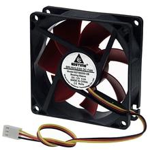 1 шт. Gdstime чехол вентилятор 80 мм DC 12 В 3Pin гидравлический PC процессор охлаждения кулер 8025 80x80x25 мм