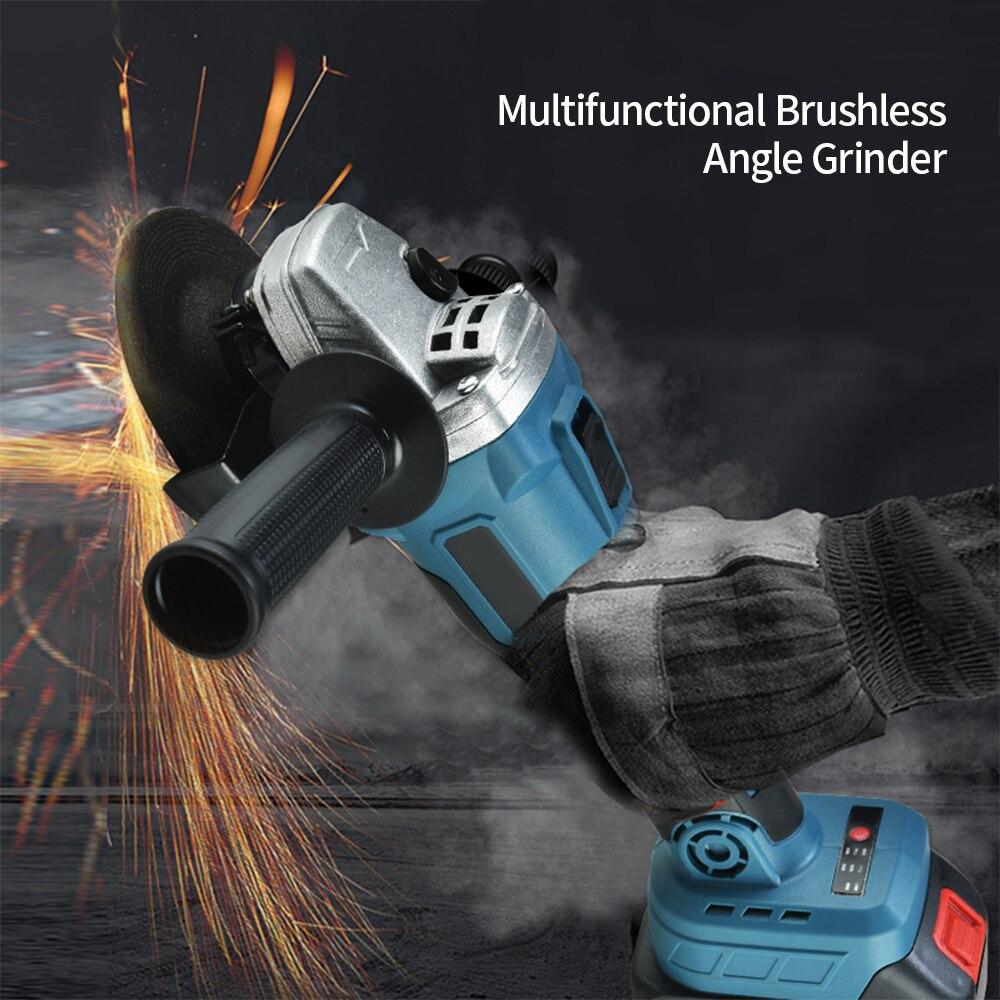 3000mAh / 4500mAh Wireless Manual angle grinder Brushless Angle Grinder Electric Angle Grinder Angular Finishing Grinder