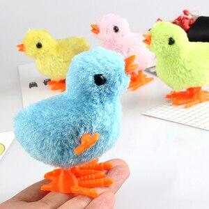 Милые плюшевые ветряные цыплята, заводные прыжки, ходячие цыплята, игрушки для детей, детские подарки, детские развивающие игрушки, случайн...
