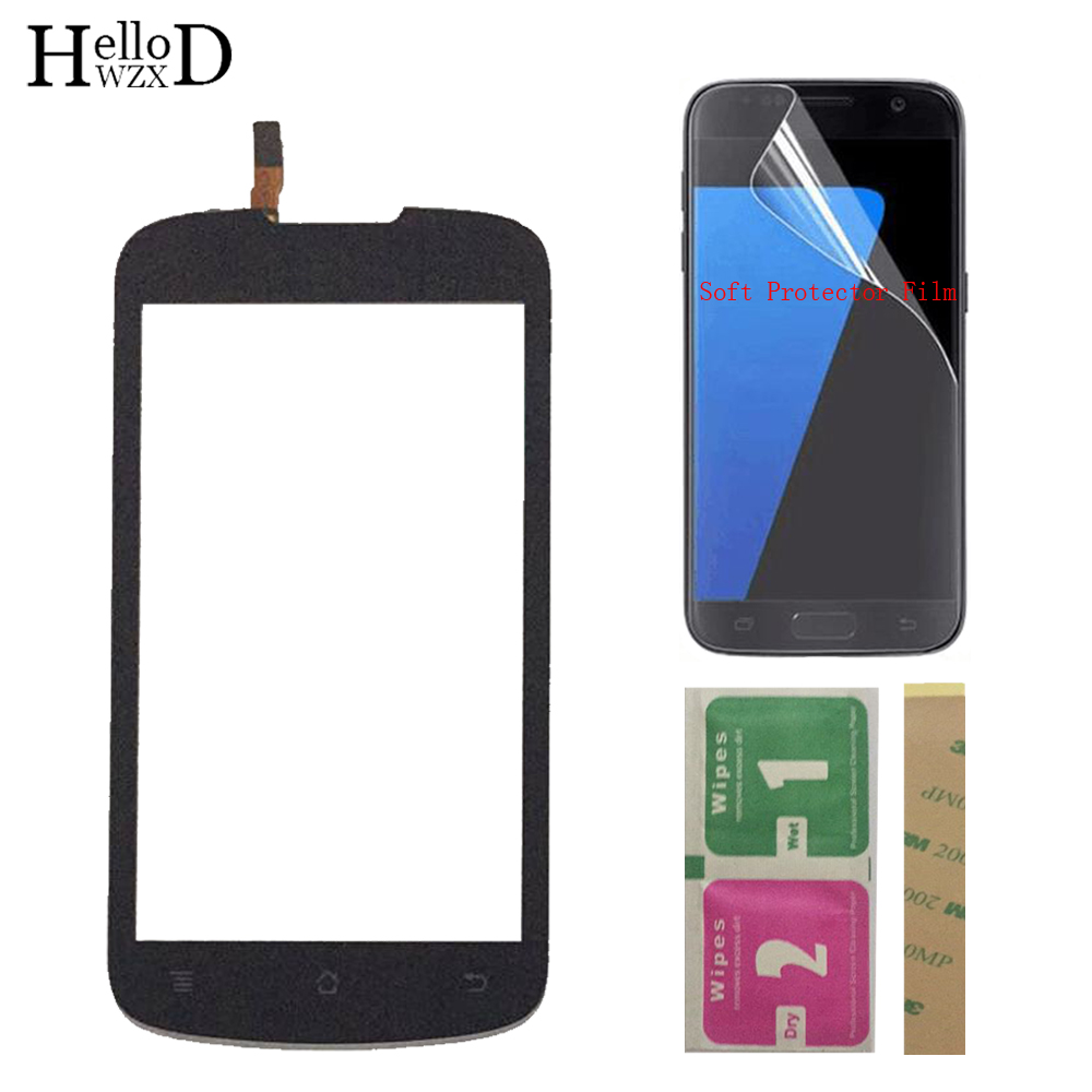 Mobile Touch Screen For Huawei Ascend G300 U8818 U8815 Touch Glass Front Glass Digitizer Panel Lens Sensor + Protector Film