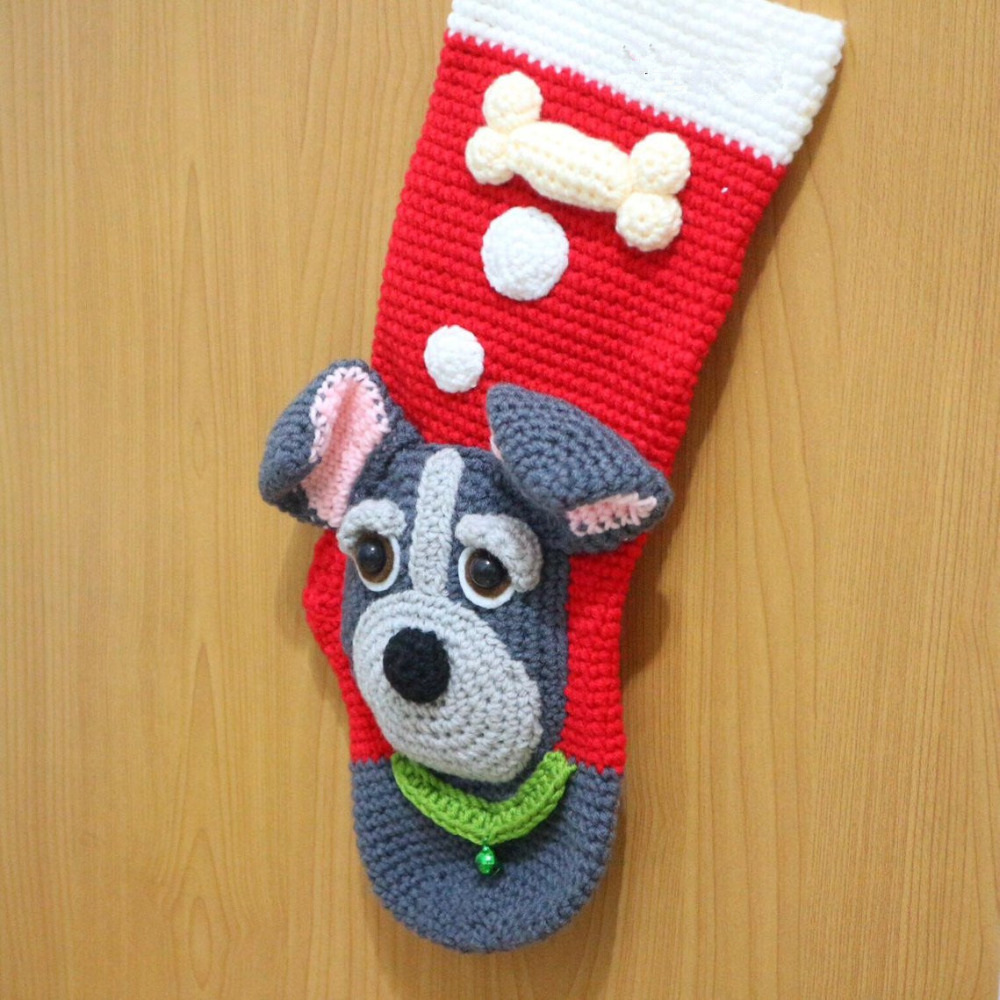 Häkeln Baby Handgemachte Festival Socken Hund Stil Modell Anzahl Sc002