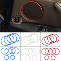 4pcs/lot aluminium alloy Car loudspeaker decoration ring Fit for 2014 2015 BMW X1 18i 20i Sound Audio ring cover