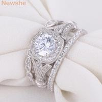JR4681 Solid 925 Sterling Silver Wedding Ring Sets For Women Trendy Jewelry Size 5 6 7