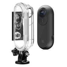 Wodoodporna obudowa Case dla Insta360 jednej kamery podwodne nurkowanie powłoki ochronne pudełko na Insta 360 jeden akcesoria samochodowe tanie tanio SUNFLYING Insta360 ONE 360 ° Wideo Kamery Akcesoria Zestawy 8*8*8 Waterproof Housing Case 0 1kg