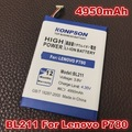 New 4950mAh BL211 Mobile Phone Battery For Lenovo P780 Battery Free Shipping+Track Online