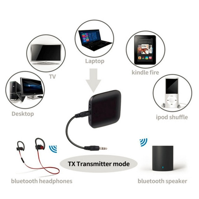 Q16 Wireless Bluetooth Audio Transmitter Audio Player 3.5mm Wireless Adapter Bluetooth 4.1 For Smart Phone MP3 PC TV
