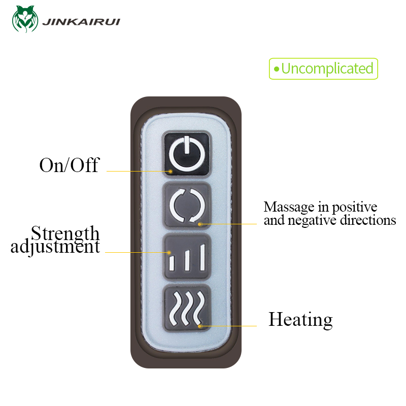 JinKaiRui U Shape Electrical Shiatsu Massager Shawl Roller Heat Massage Electric Pain Neck and Shoulder Multi-function Massagem