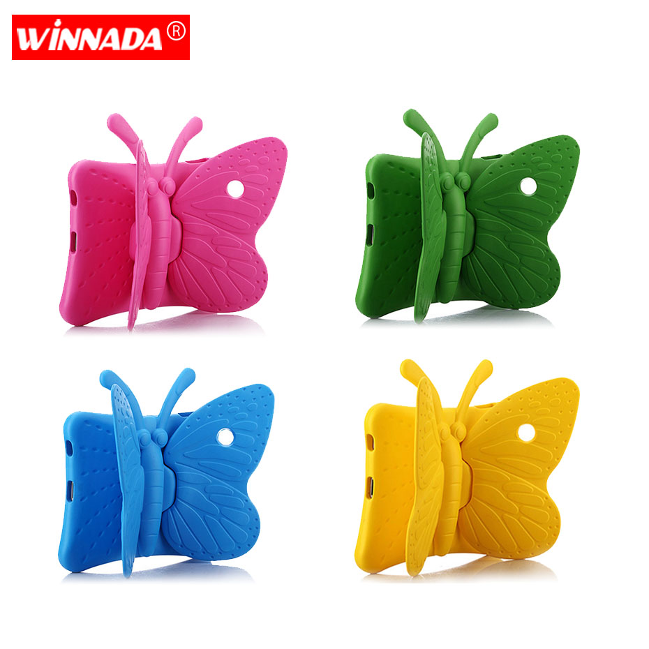 Kids case for ipad 2 3 4 case Non toxic EVA butterfly design Cartoon 3D Protective Shockproof Stand cover For funda ipad 4 in Tablets e Books Case from Computer Office