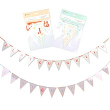 Wedding Banner JUST MARRIED Pennant Flags Bunting Engagement Party Photo Props Rustic Vintage Style Weeding Decoration