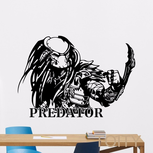 Predator wall sticker retro film poster vinyl decal dorm home interior living room art decor removable