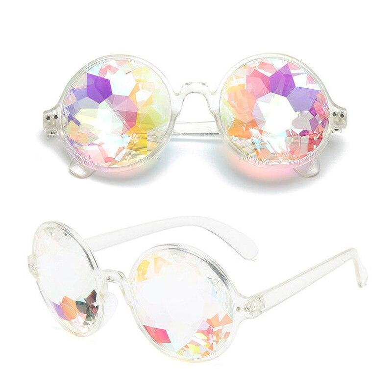 Music Festival Kaleidoscope Glasses Multiply Lenses Ravers Diffraction Prismatic Lens Plastic Frame Party Club Sunglasses