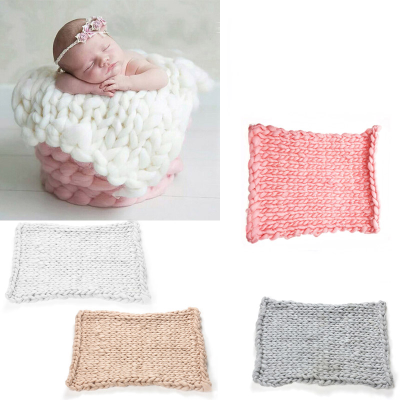 Nuevo punto de ganchillo manta bebé recién nacido Balls manta Photo ...