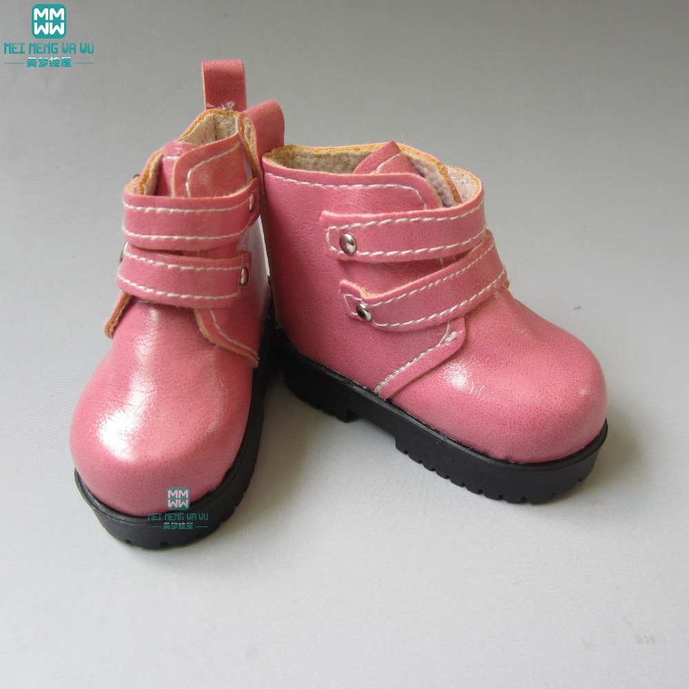 7.5cm Black boots Shoes for Dolls 1/4  BJD Doll 16 Inch 40cm Sharon doll Accessories