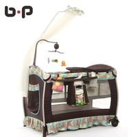 Bp Multifunctional Folding Baby Bed Fashion Crib Baby Cradle Bed Portable Paint Bb Bed Game Bed Twin Baby Cradle