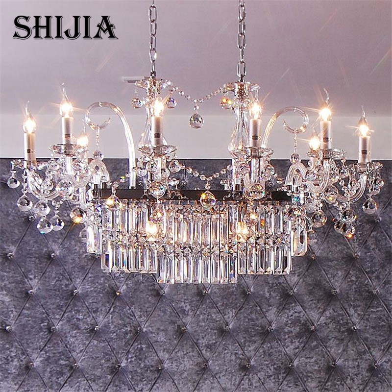 Pendant Lights Transparent Head Crystal pendant lamp European Candle Light Ac110-240v Bedroom K9 Kitchen Lamp zg9048 pendant light ac 110 240v