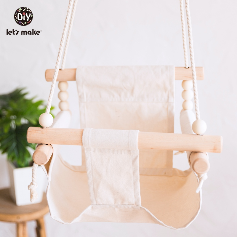 Let s Make Baby Swings Canvas Hanging Chair 13 24 Months Hanging Toys Hammock Safety Baby Let's Make Baby Swings Canvas Hanging Chair 13-24 Months Hanging Toys Hammock Safety Baby Bouncer Indoor Wooden Swing Rocker