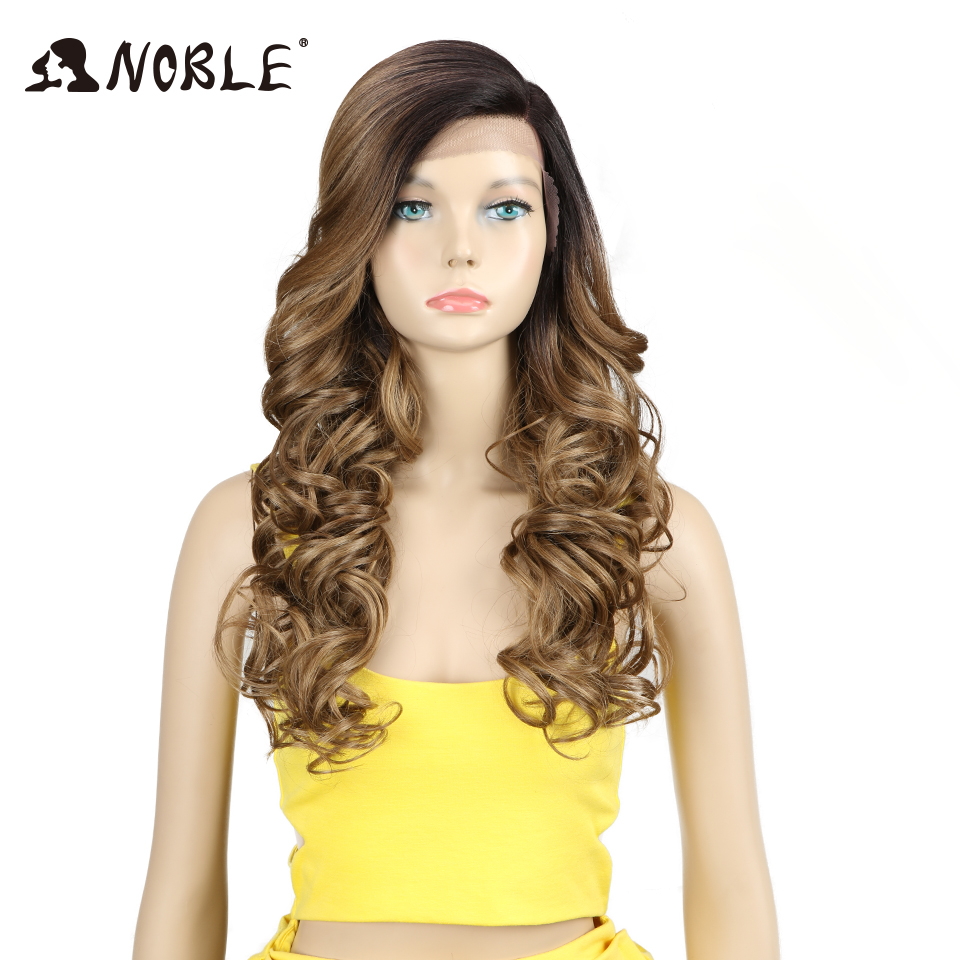 Noble Synthetic Hai Wig 22 Inch Long Wavy Cosplay Heat Resistant Wigs for Black Women Synthetic