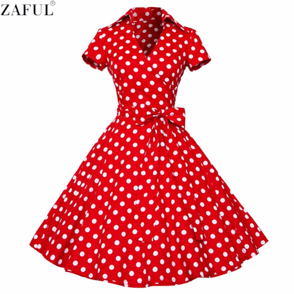 ZAFUL Woman Retro Dresses 2017 Audrey Hepburn 1950s 60s ...