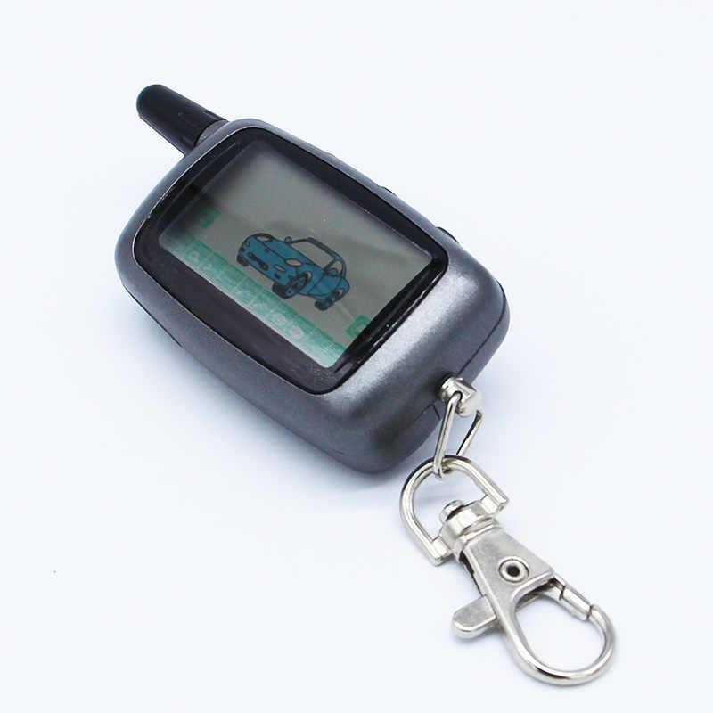 -Way LCD Điều Khiển Từ Xa Key Fob Chain Keychain + Trường Hợp Key Silicone Cho Hai Chiều Xe Hệ Thống Báo Động Starline A9