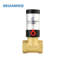 NBSANMINSE Pneumatic Parts Pneumatic Control Valve Q22HD Brass Electric Solenoid Valve Pneumatic Valve for Water Oil Air Gas made in china pneumatic solenoid valve sy3220 3lzd c4