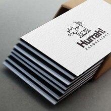 600gsm черно-белая бумажная дуплексная визитная карточка