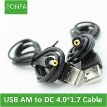 Зарядный кабель, черный, 1 м, 3 а, с USB разъемом A DC 4,0*1,7 4,0*1,7 мм 4,0 мм x 1,7 мм 4,0x1,7 мм