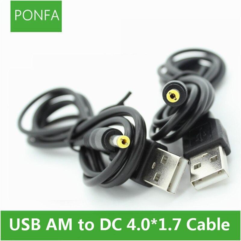 1 м 3A Черный DC Шнур от вилки USB A до DC 4,0*1,7 4,0*1,7 мм 4,0 мм x 1,7 мм 4,0x1,7 мм Jack зарядный кабель 3 фута-in Кабели питания from Бытовая электроника