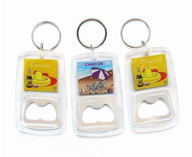wholesale 50pcs clear keychain beer plastic metal promotion bottle opener can insert photo in. Black Bedroom Furniture Sets. Home Design Ideas