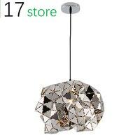 Non stain steel pendant lighting Simple Modern modern hanging lamps Diamond Cutting Plating Decorative pendant light for restaur