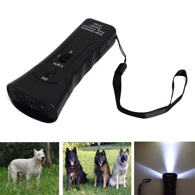 Portable Handheld Bark Stopper Animal Attacks Repeller Ultrasonic Dog Repellent Dogs Training Device Hot Sale