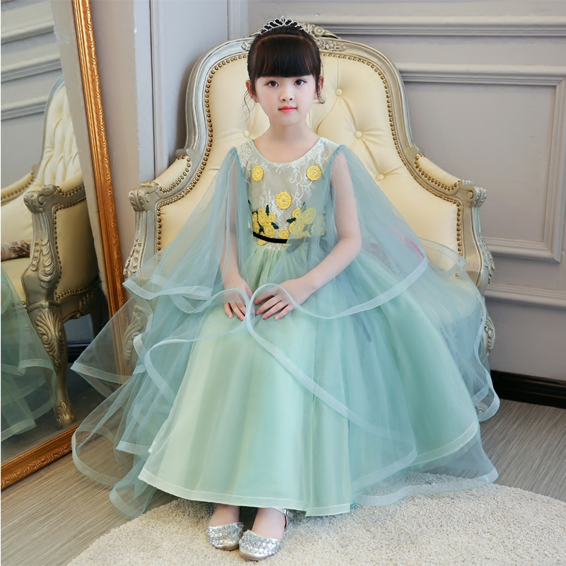 High Quality Children Girl European Elegant Princess Lace Dress Birthday Wedding Formal Party Ball Gown Dress Kids Pageant Dress 2017 new high quality girls children white color princess dress kids baby birthday wedding party lace dress with bow knot design