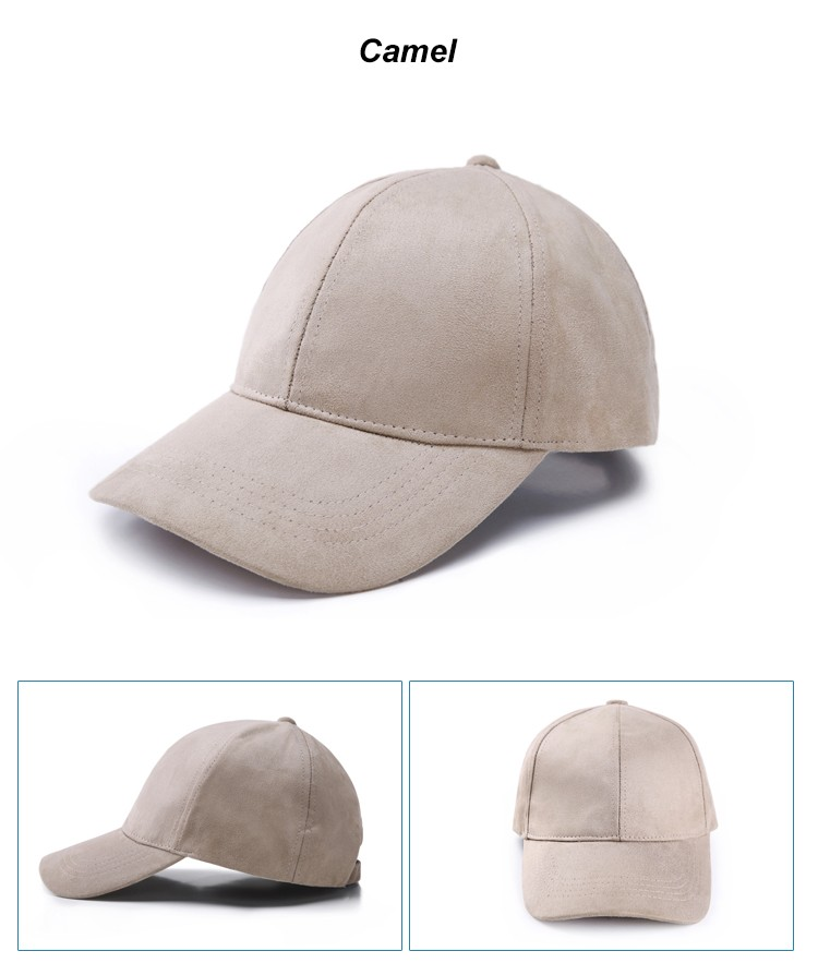 WEARZONE Unisex Soft Suede Baseball Cap Casual Solid Sports Hat Adjustable Breathable Dad Hats for Women Men 22