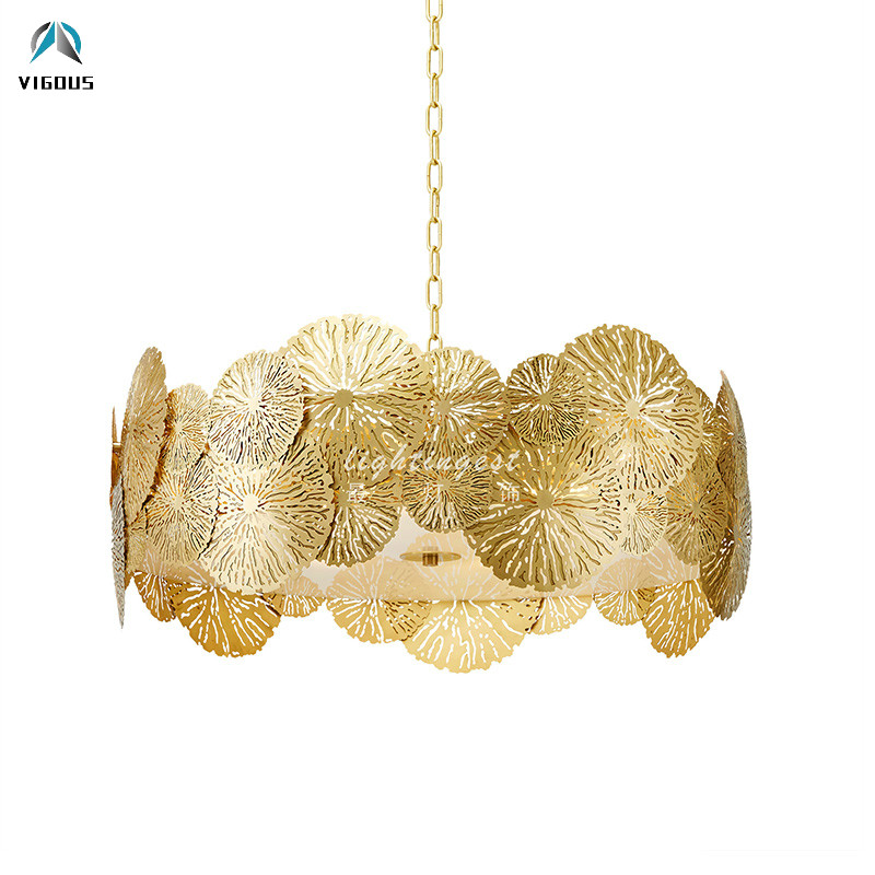 Post Modern Hollow Carved Led Pendant Light Round Style Acrylic Mask Hanging Lamp Foyer Lustre Luminarias Suspend Lamparas