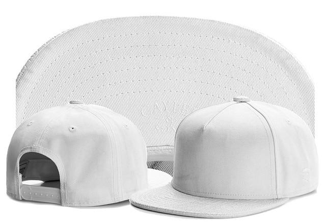 Summer mens new solid white snapback blank hats for men no logo baseball  cap brand cayler sons bones gorras hip hop snapbacks 357b899afc8