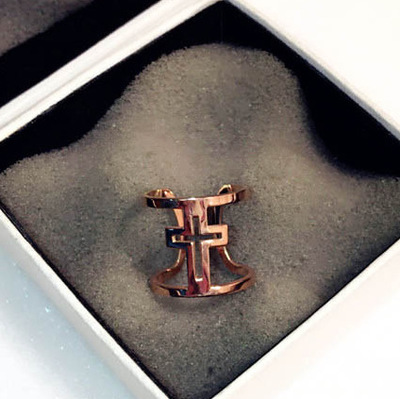 New wholesale hollow smooth cross ring aneis, fashion rings for women 2018 opening finger ring women anillos bisuteria mujer