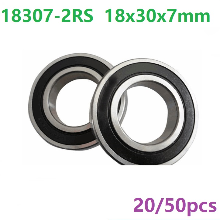 20pcs or 50pcs 18307-2RS 18307RS 18307 2RS 18x30x7 mm deep groove ball bearing bicycle bottom bracket bearing 18*30*7 abxg 23327 2rs speed connection drum bearing 23327 2rs for sram bicycle hub repair parts bearing 23x32x7 mm 23 32 7 mm
