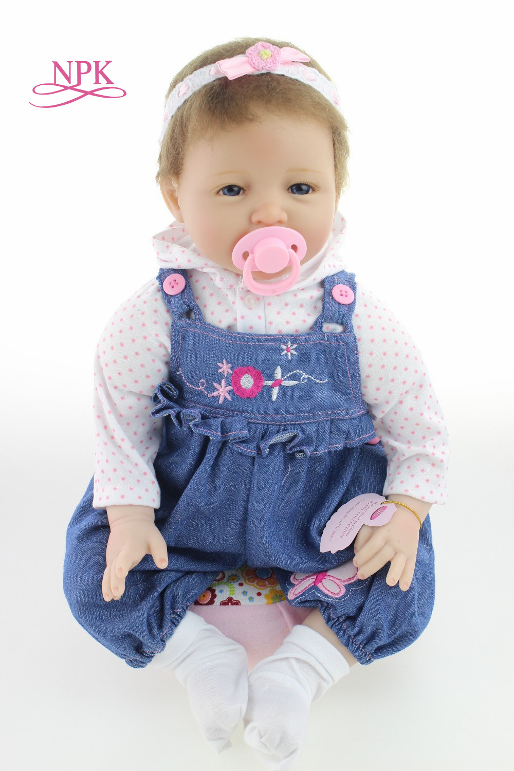 NPK 2255cm Alive Baby Reborn Dolls Handmade Silicone Girls Toddler Doll Lifelike Soft Vinyl Newborn Babydolls Toys for Children handmade adorable soft vinyl silicone reborn toddler princess girl baby alive doll toys with soft cotton body for children girls