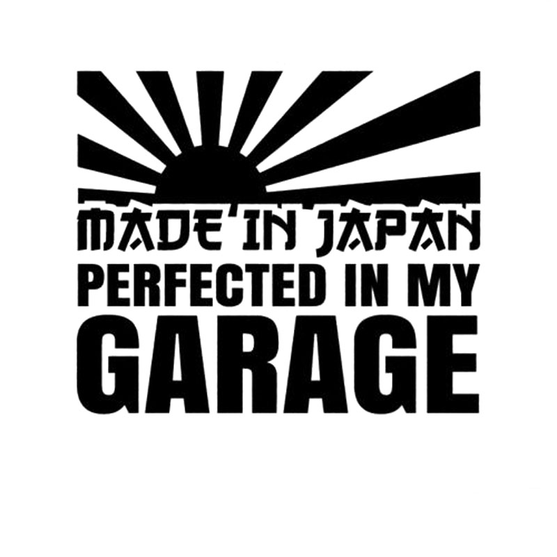12 7cm10 6cm made in japan perfected in my garage decal jdm stickers vinyl