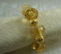 acrylic gold napkin holder, decoration  wedding cheaper beaded napkin ring