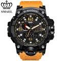 Relógio marca de moda homens novo estilo smael choque analógico digital relógios militares esportes dos homens à prova d' água dupla afixação relógio de quartzo