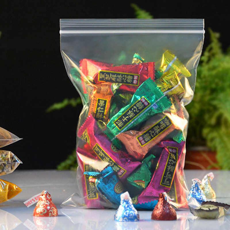 Atacado Zip Bloqueio Plastic Bag 13x19 cm Saco De Armazenamento De Grande Porte 100 pçs/lote Grosso Transparente Embalagens de Alimentos Malotes Presente saco Para Os Hóspedes